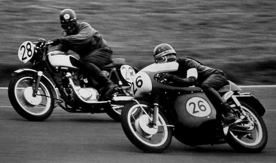 The ex-Geoff Dodkin, Reg Everett/Tom Phillips, Dave Croxford/Keith Heckles, John Blanchard, Barcelona 24 Hours, Brands Hatch 500 Miles, Isle of Man TT, class-winning,1964 Velocette Thruxton 498cc Production Racing Motorcycle Frame no. RS15964 Engine no. VMT750R