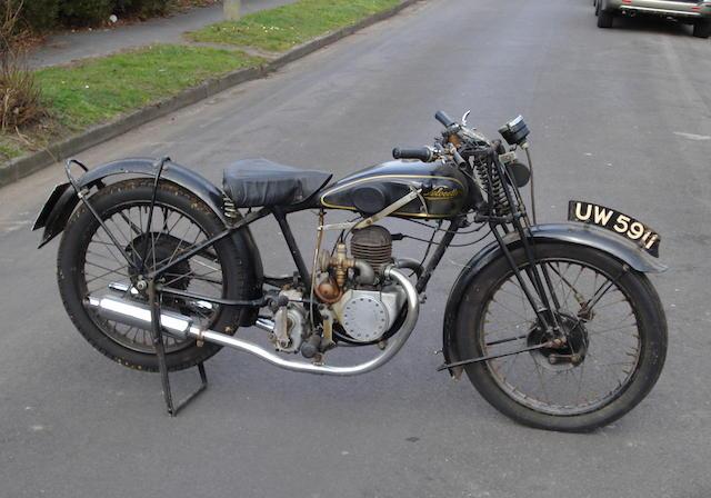 1929 Velocette 249cc Model U Frame no. U2172 Engine no. UB1962
