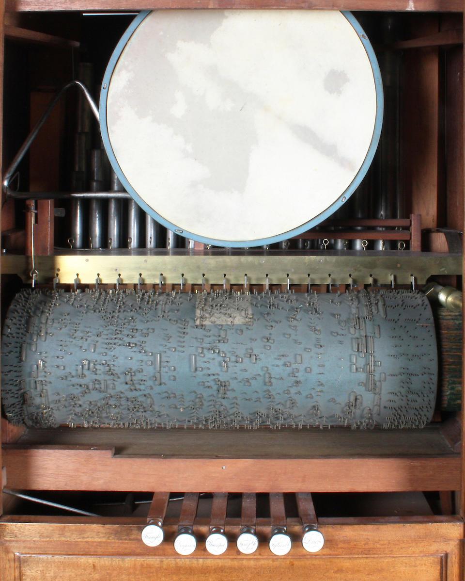 A nineteen-key chamber barrel organ by Flight & Robson