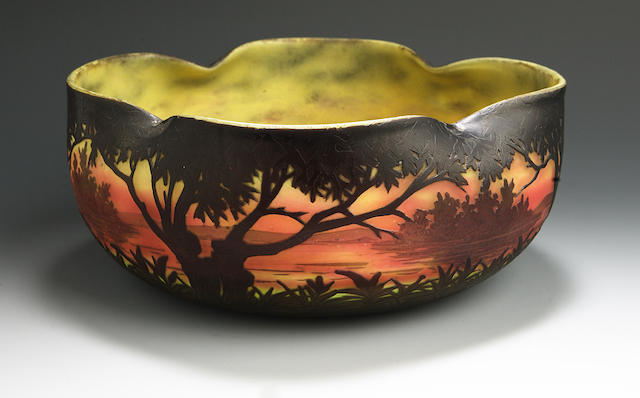 A Daum Nancy bowl circa 1905