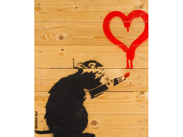 Banksy (British, born 1975) 'Love Rat', 2003