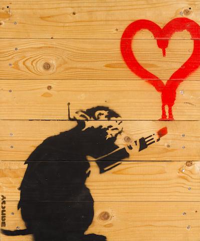 Banksy (British, born 1975) 'Love Rat', 2003
