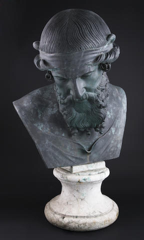 A 19th century classical bronze bust of Plato,Probably Italian