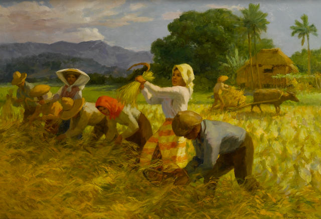 Fernando Cueto Amorsolo (Filipino, 1892-1972) The harvesters