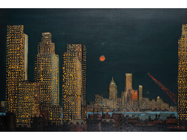 Fred Uhlman (British, 1901-1985) New York skyline