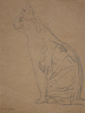 Gwen John (British, 1876-1939) Seated Cat