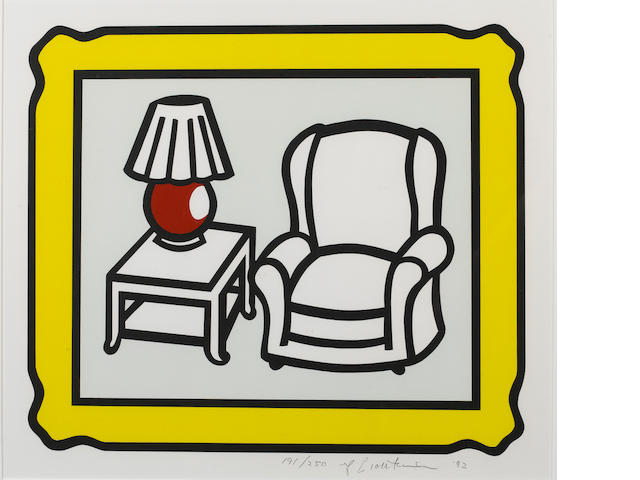 "Roy Lichtenstein (American, 1923-1997) ""Red Table"", 1992 signed, dated and numbered 191/250 in penci"