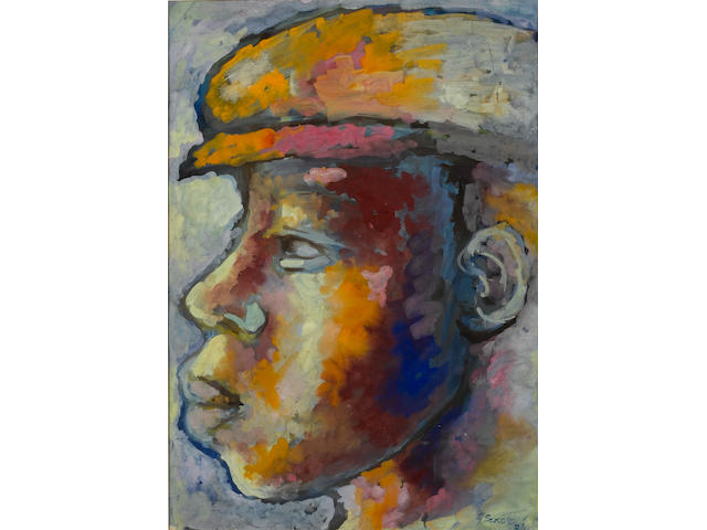 Gerard Sekoto (South African, 1913-1993) Boy wearing a cap