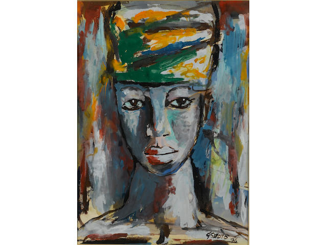 Gerard Sekoto (South African, 1913-1993) Woman's head