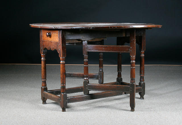 An 18th century gateleg table