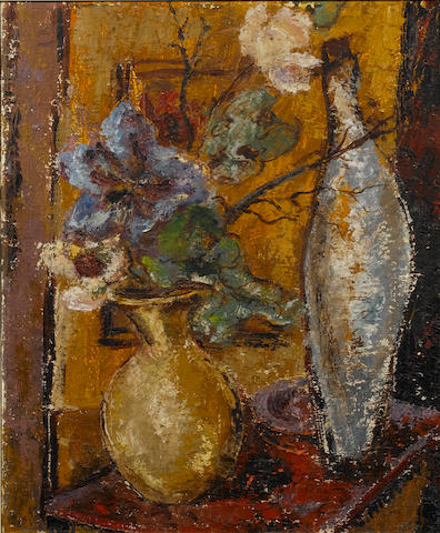 Cecil Higgs (South African, 1900-1986) Still life of vases and flowers