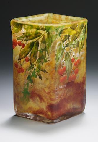 A Daum cameo glass vase circa 1910