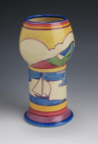 'Gibraltar' a Clarice Cliff Bizarre vase