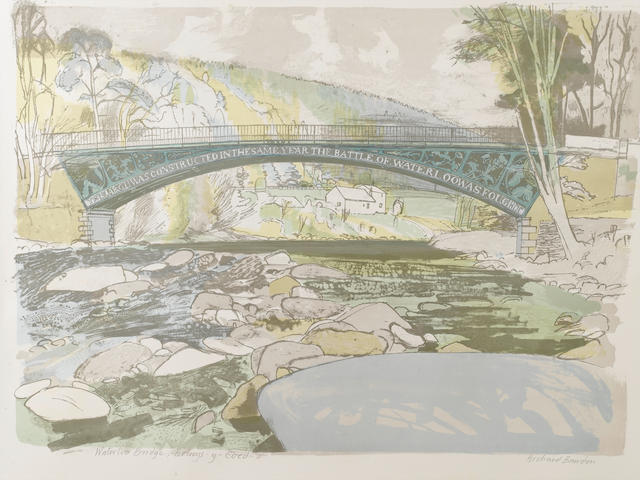 Richard Bawden (British, 1936) A Collection Six colour lithographs, including 'Newcastle High level