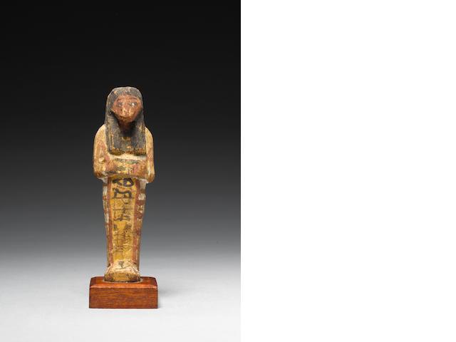 An Egyptian 'Petrie' wood shabti