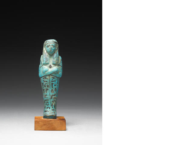 An Egyptian glazed composition shabti