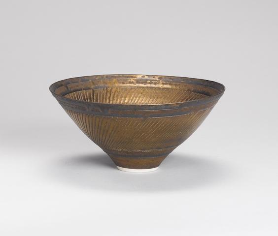 Lucie Rie (Austrian/British, 1902-1995) a Bowl, circa 1976 Diameter 19.5cm (7 5/8in.)