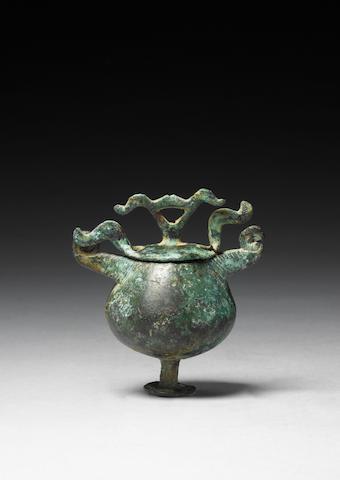 A Villanovan bronze hanging vessel 2