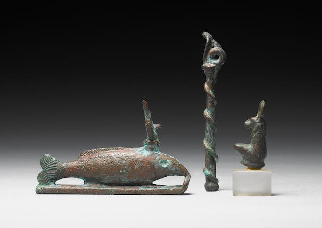 Three Egyptian bronzes