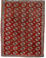 An early 19th century Salor 'main' carpet West Turkestan, 10 ft 5 in x 8 ft 1 in (317 x 247 cm) some wear and losses at each end