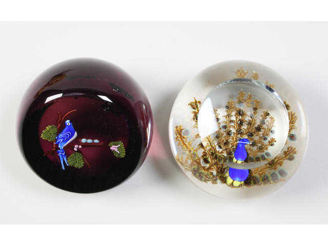 Two Caithness facetted paperweights
