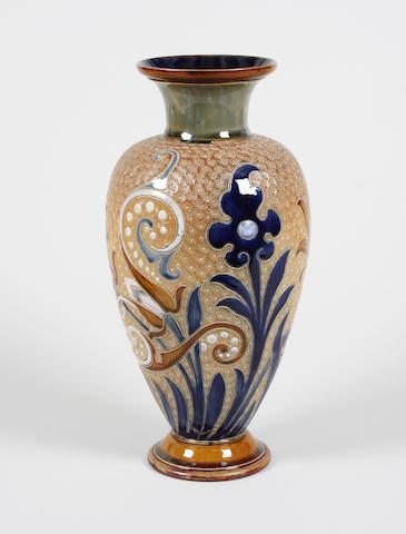 A Royal Doulton vase by Frank Butler
