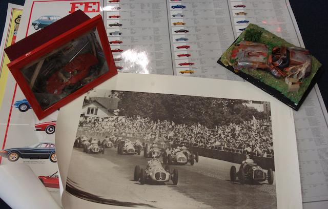 A quantity of Ferrari related artwork, (Qty)
