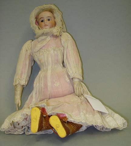 Bisque shoulder head doll, circa 1900