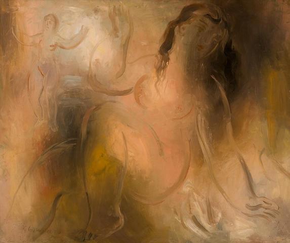 Giorgios Gounaropoulos (Greek, 1889-1977) Nymphs 54 x 65 cm.