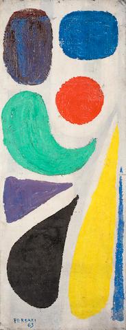Gianna Persaki (Greek, 1921-2008) Remembrance of Hydra 120 x 46 cm.