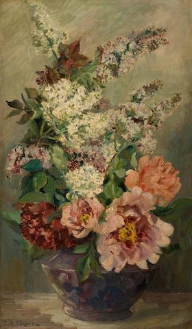 Georgios Roilos (Greek, 1867-1928) Bouquet of flowers 78 x 46 cm.