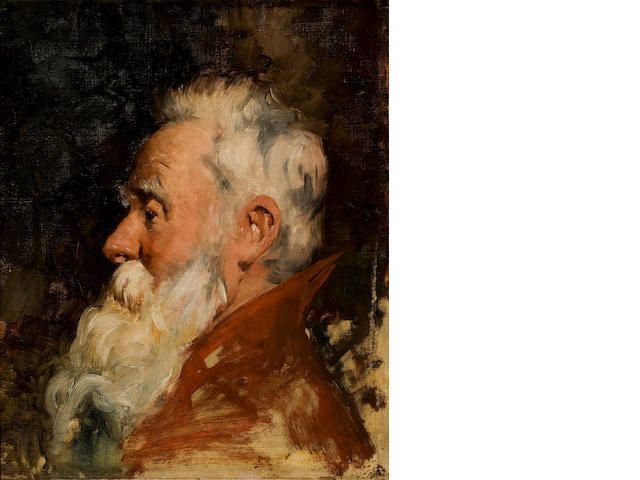 Nicholaos Gysis (Greek, 1842-1901) Head of man with beard 46 x 38.5 cm.