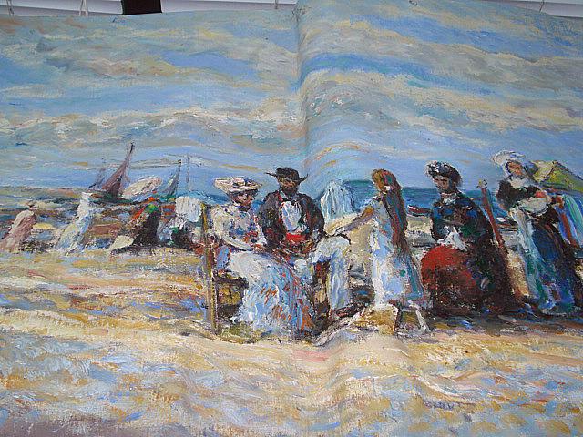 Michael D'Aguilar People on a beach unframed