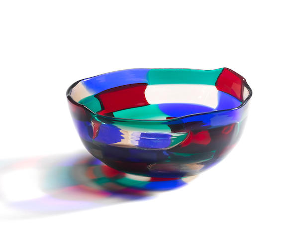 Fulvio Bianconi for Venini, a 'Pezzato' bowl, designed 1950-51