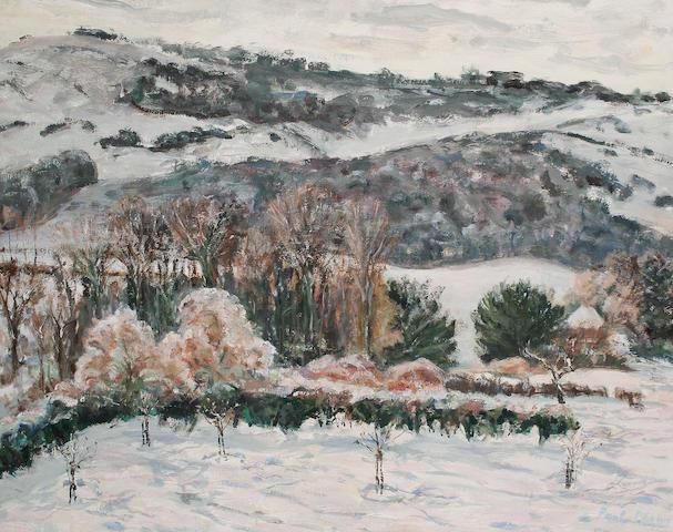 Paul Lucien Maze (French, 1887-1979) The artist's garden, circa 56