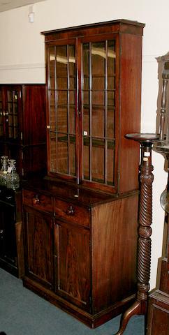 A mid 19th century mahogany bookcase