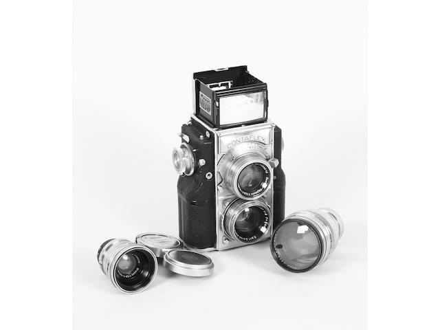 Contaflex twin lens reflex camera
