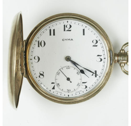 A 9ct gold pocket watch and chain,