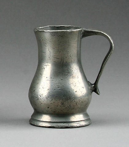 A Jersey lidless measure, circa 1800