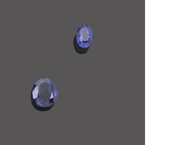 Two unmounted sapphires