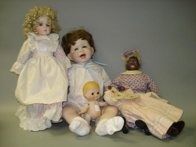 Five reproduction/Artist dolls