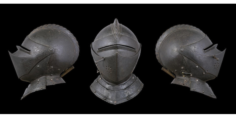 A Very Fine French Close-Helmet