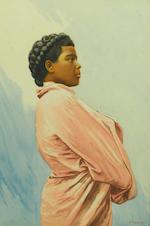 Emile Ralambo (Malagasy, 1879-1963) Three studies of young Malagasy women ((3))