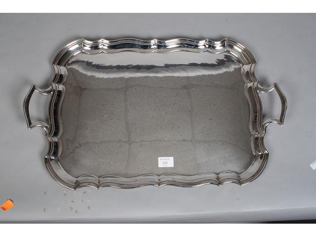 A large silver tray Sheffield, 1934, EV,