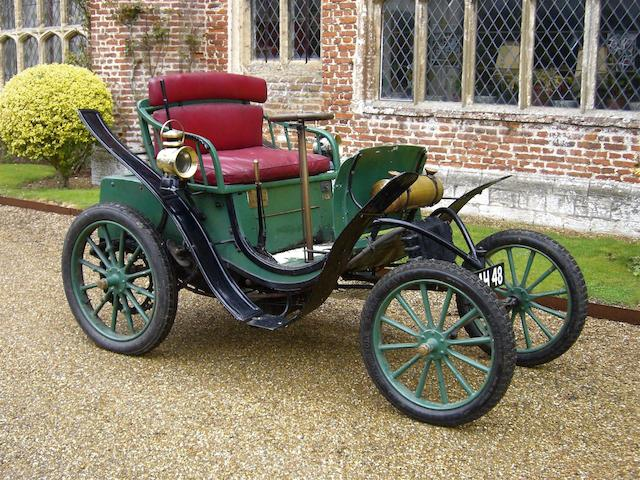 The property of Sir John Guinness, CB,1900 Clément-Panhard 4½hp Type VCP Voiture Légère Two-Seater  Chassis no. 244 Engine no. 356