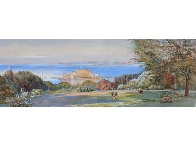 Attributed to Paul Jacob Naftel (Guernsey, 1817-1891) 26.4 x 72.7cm.
