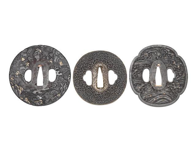 Three tsuba Edo Period
