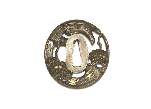 Two bakumatsu sentoku tsuba, Meiji period