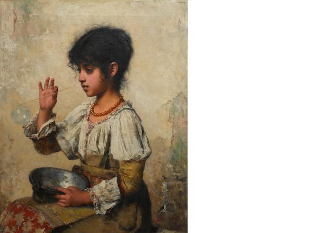 Alexei Alexeevich Harlamoff (Russian, 1840-1925) Bubbles
