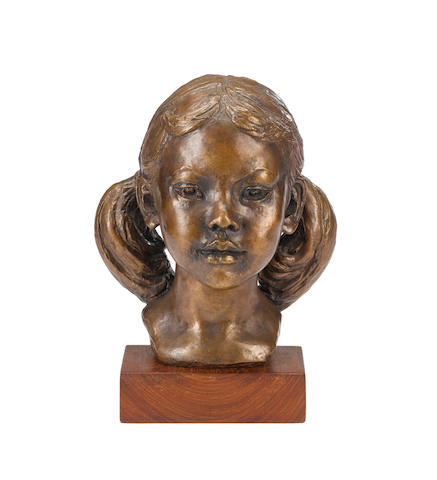 Barbara Tribe (Australian, 1913-2000) 'Dang' 32cm (12 1/2in)(height, including base)  (Illustrated in 'Barbara Tribe, Sculptor' by Patricia R.McDonald, page 47 and 109)